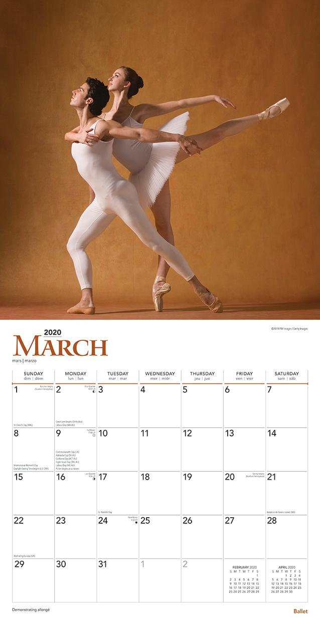 Ballet 2020 Square Foil Wall Calendar image