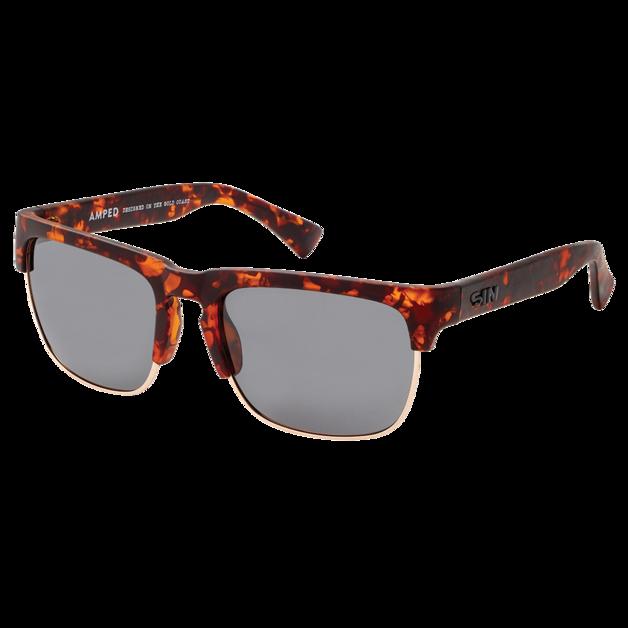 Sin Eyewear: Amped Sunglasses - Raven/Smoke Flash