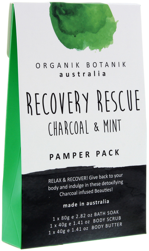 Organik Botanik Splotch - Recovery Rescue Pamper Pack (Charcoal & Mint)