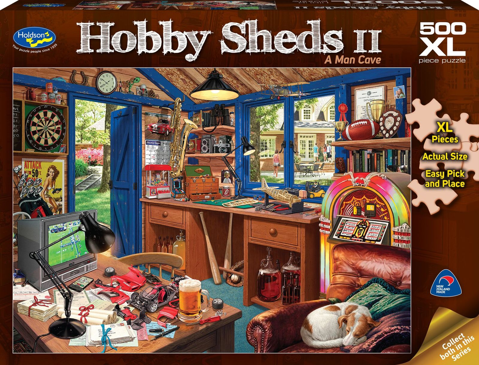Holdson: 500 Piece Puzzle XL The Hobby Shed 2 A Man Cave image