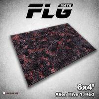 FLG Alien Hive Red Neoprene Gaming Mat (6x4)