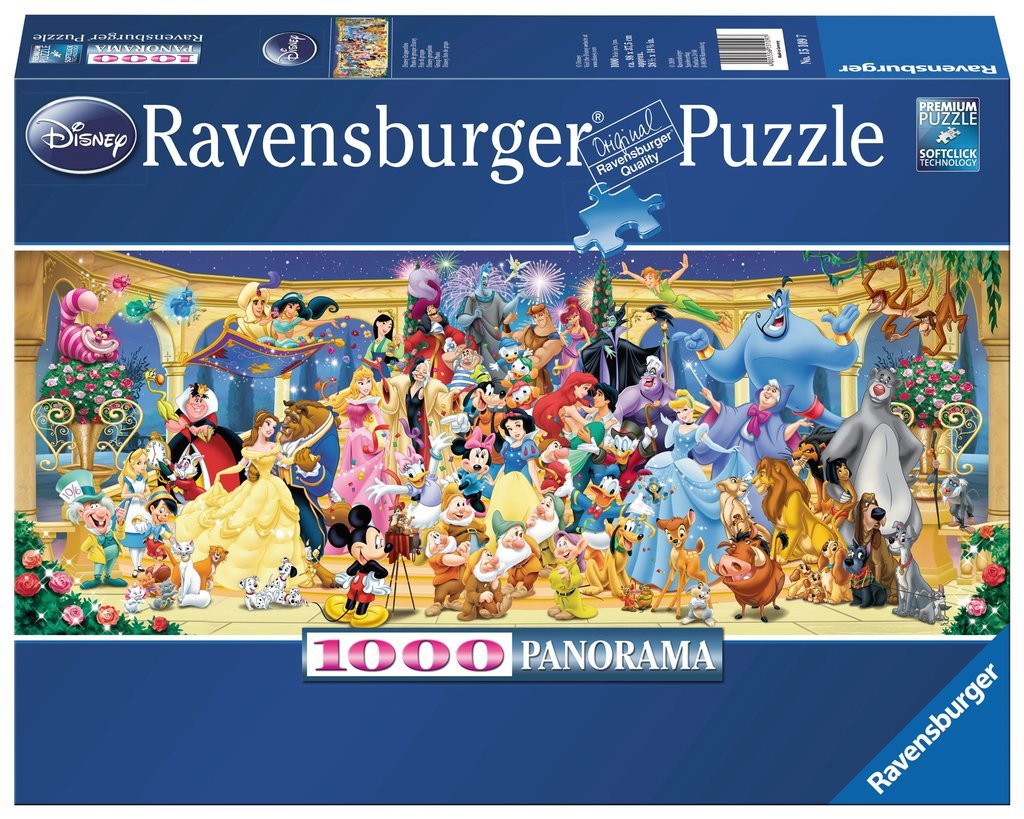 Ravensburger 1000pc Jigsaw Puzzle - Disney Characters Panorama image