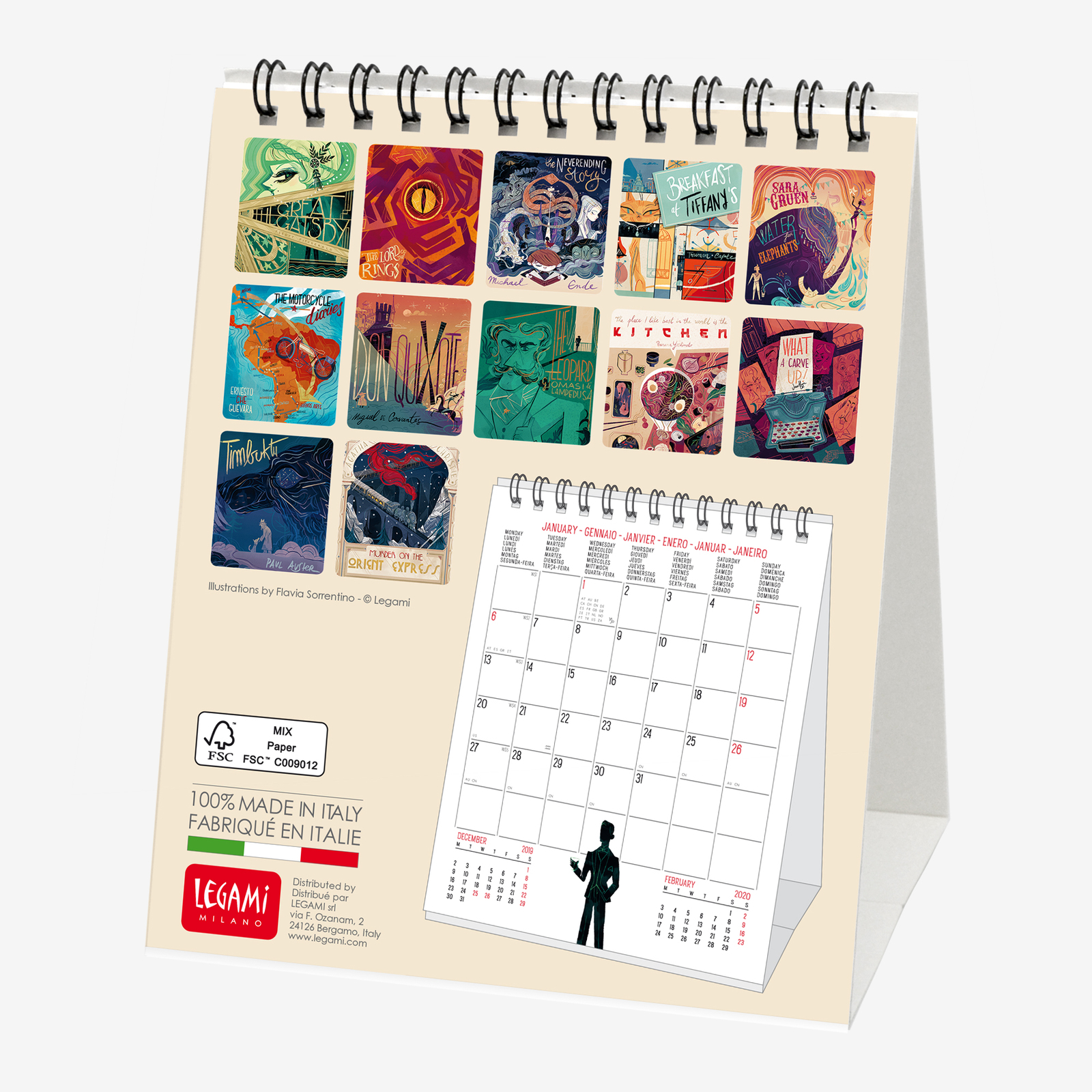 2020 Desk Calendar.Legami Book Lover S 2020 Desk Calendar