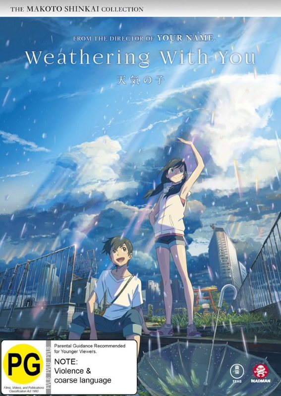 Weathering With You on DVD