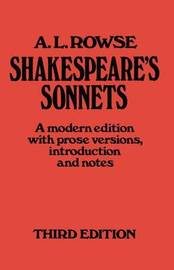 Shakespeare's Sonnets by Alfred Lestie Rowe image