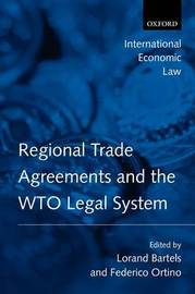 Regional Trade Agreements and the WTO Legal System image