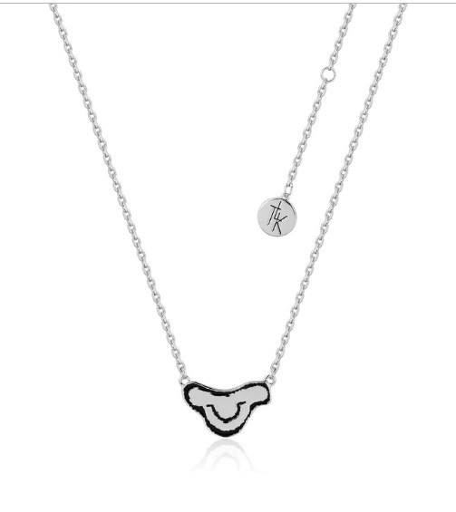Couture Kingdom: Disney Kids The Lion King Simba Head Necklace - White Gold