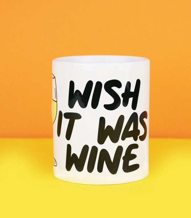 Wish It Was Wine Coffee Mug