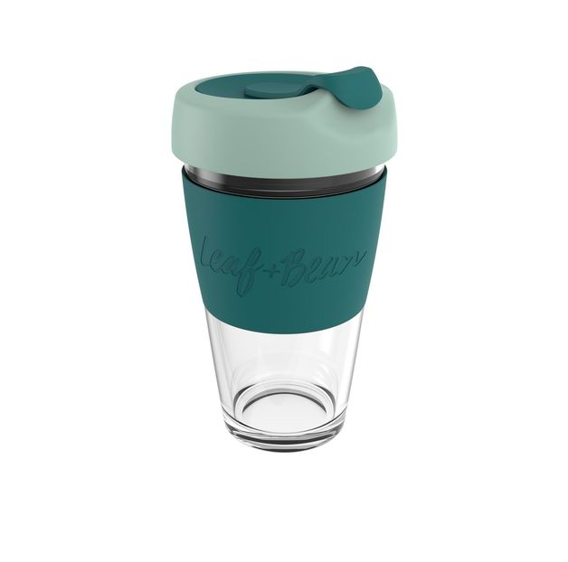 Leaf & Bean: Sorrento Glass Travel Cup - Moss/Forest