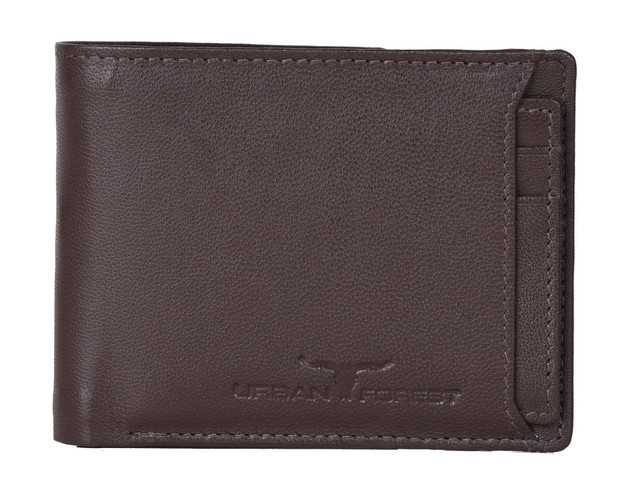 Urban Forest: Sidka Leather Wallet w/Card Holder - Serena Dark Brown