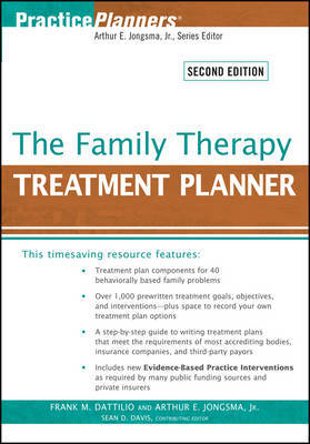 The Family Therapy Treatment Planner by Frank M Dattilio