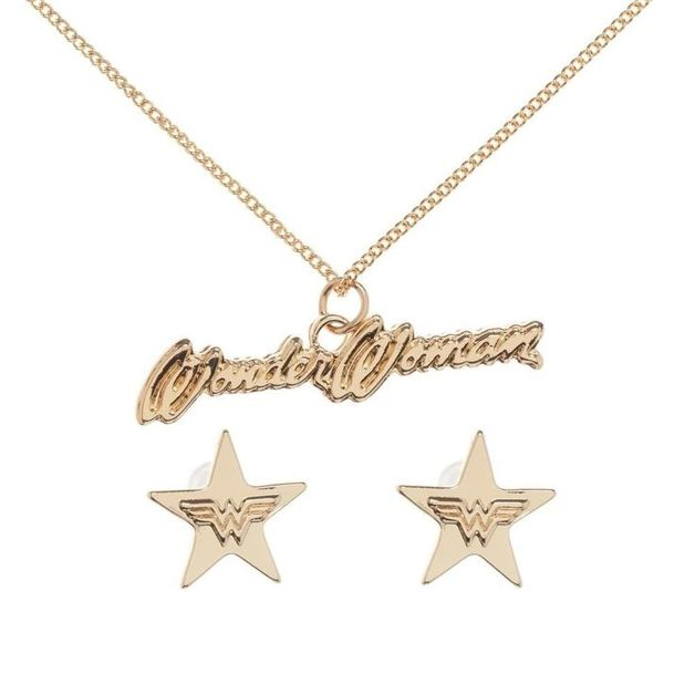 Wonder Woman Necklace Earring Gift Box Women S At Mighty Ape