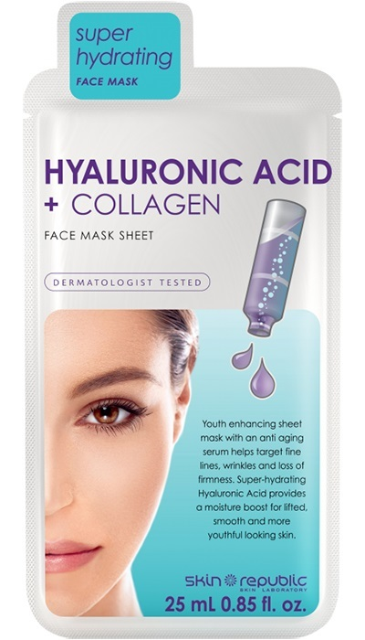The Skin Republic: Hyaluronic Acid + Collagen Face Sheet Mask