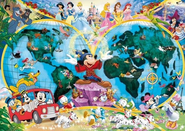 Ravensburger 1000pc Puzzle - Disney World Map