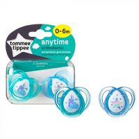 Closer to Nature Any Time Soother 0-6 Months (Castle and Star) - 2 Pack