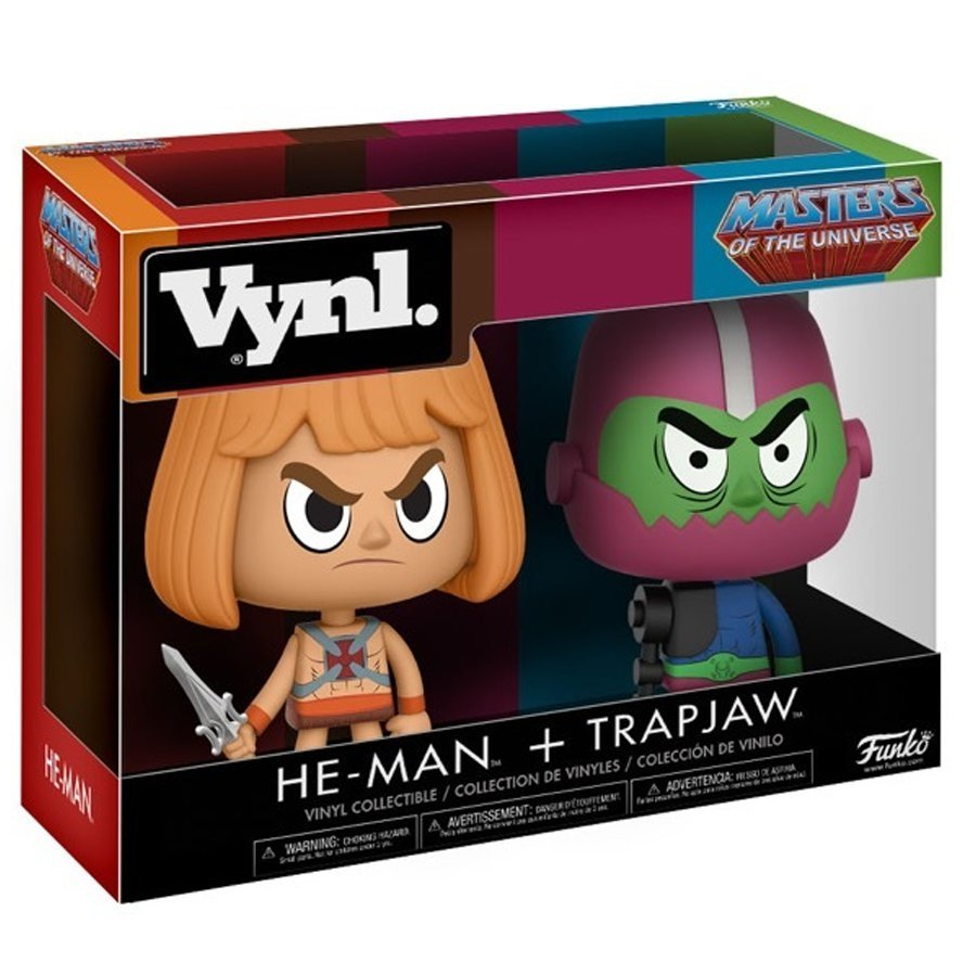 He-Man + Trap Jaw - Vynl. Figure 2-Pack image