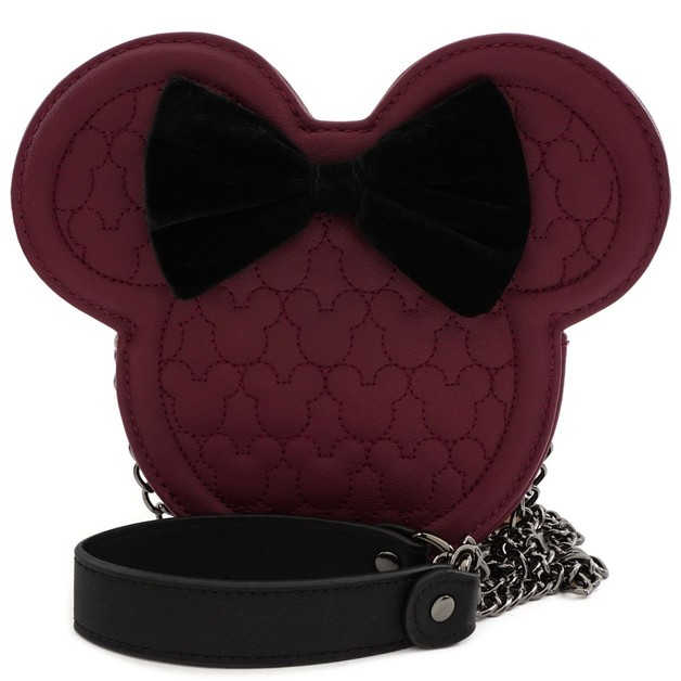 Loungefly: Mickey Mouse - Brown with Bow & Ears Crossbody Bag