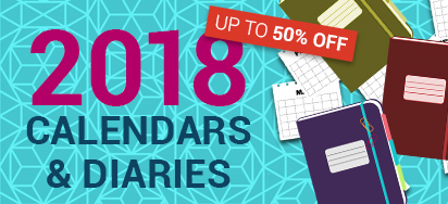 50% off All Diaries & Calendars!