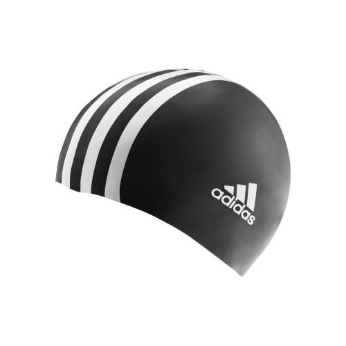 Adidas Swimcap Youth 3S/Logo Black/White