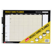 Sasco: Undated Erasable Weekly Family Planner