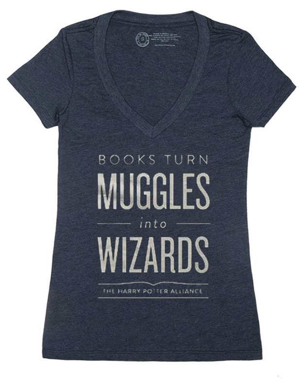 Books Turn Muggles Into Wizards - Women's Large (V-Neck)