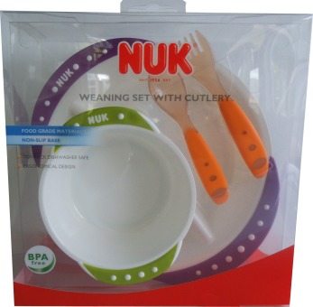 NUK: Weaning Set with Cutlery