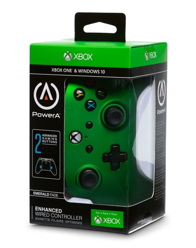 Xbox One Enhanced Wired Controller - Emerald Fade for Xbox One