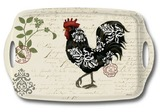 Damask Roosters Handle Tray