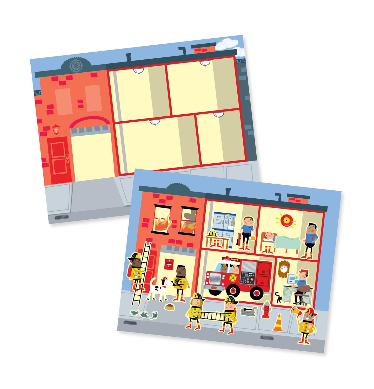 Reusable Sticker Pad My Town - Melissa & Doug image
