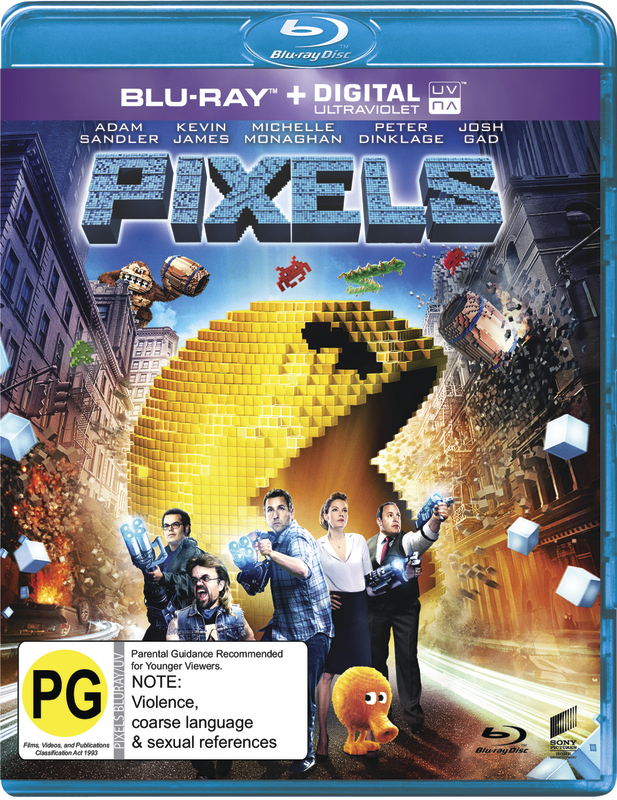 Pixels on Blu-ray
