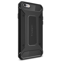 "Spigen iPhone 6s (4.7"") Rugged Armor Case - Black image"