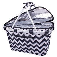 Shop & Go: Insulated Carry Basket - Chevron Stripes