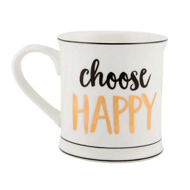 Metallic Monochrome Mug (Choose Happy)