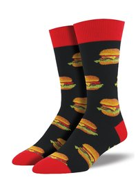 Mens - Black Good Burger Crew Socks