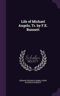 Life of Michael Angelo, Tr. by F.E. Bunnett by Herman Friedrich Grimm image
