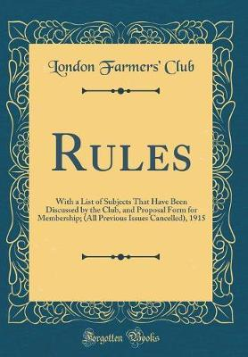 Rules by London Farmers Club