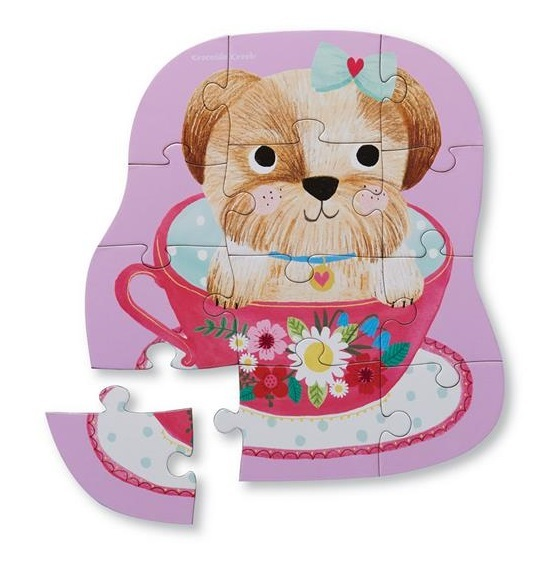 Crocodile Creek: Mini Shaped Puzzle - Pup in a Cup image