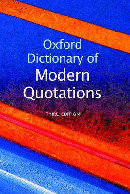 Oxford Dictionary of Modern Quotations image