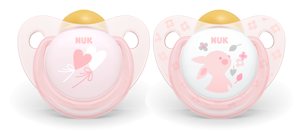 NUK: Latex Soothers Baby - Rose (2pk/6-18mths)