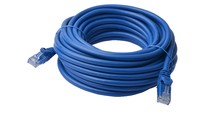 CAT 6a UTP Ethernet Cable; Snagless - Blue (50m)