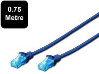 0.75m Digitus UTP Cat5e Network Cable - Blue image