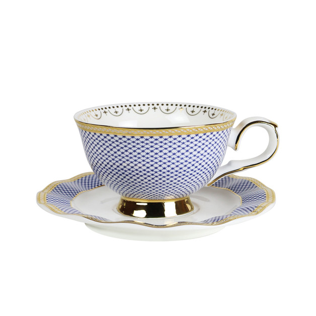 Robert Gordon: Teacup & Saucer (Parlour Blue)