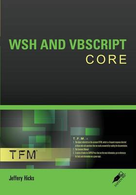 WSH and VBScript Core | Jeffery Hicks Book | Buy Now | at