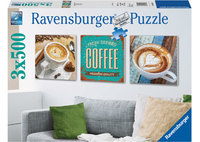 Ravensburger 3x500 Piece Jigsaw Puzzle - Coffee Time