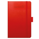 Tucson Ivory Pocket 2018 Weekly Diary - Coral Red