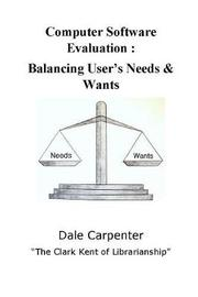 Computer Software Evaluation by Dale Carpenter image