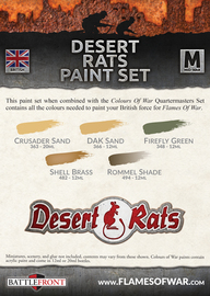 Flames of War: Desert Rats - Paint Set image