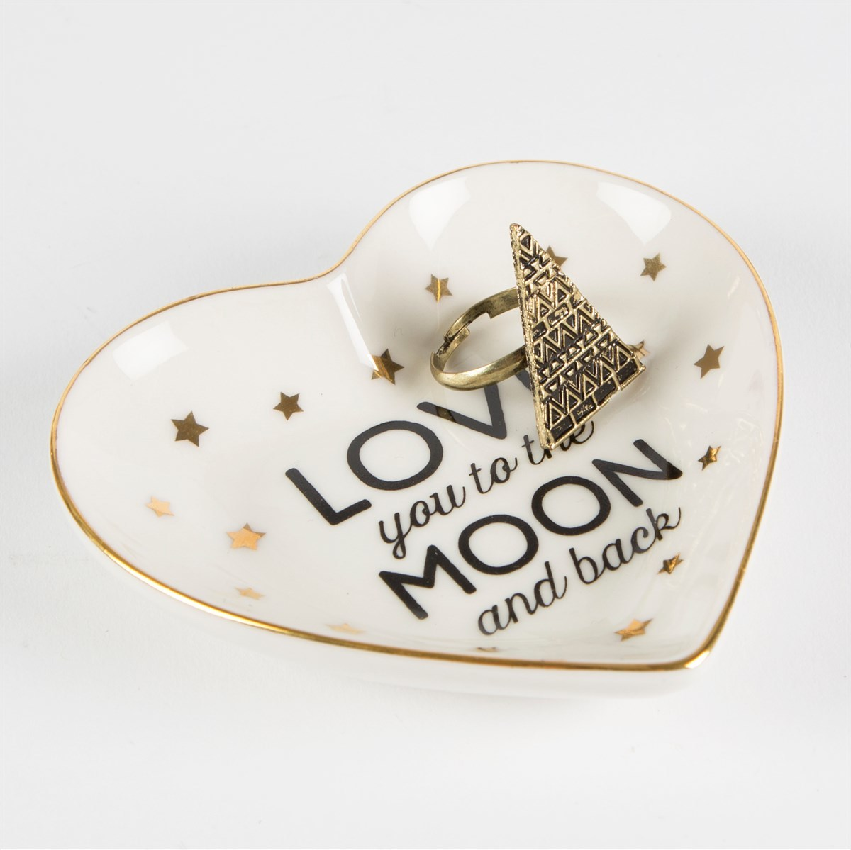 Love You To The Moon & Back Heart Jewellery Dish image
