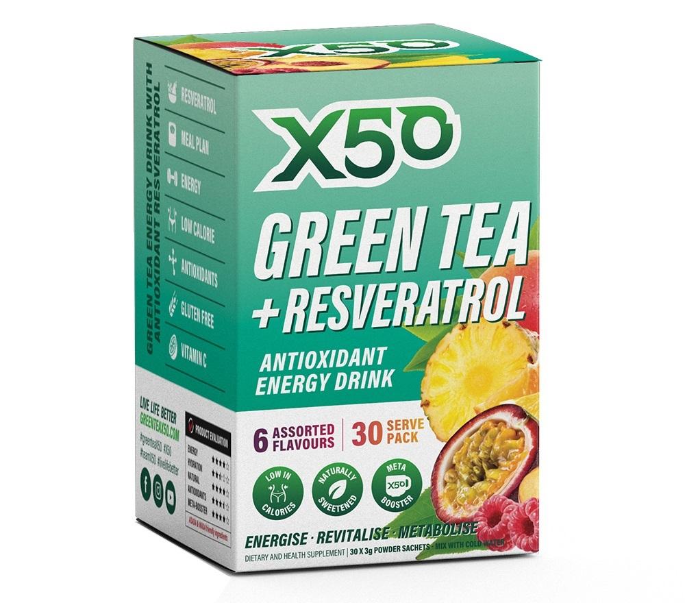 Green Tea X50 + Resveratrol - Assorted (30 Serves) image
