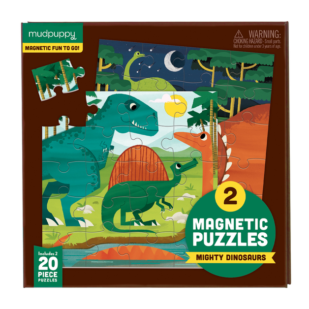Mudpuppy: Mighty Dinosaurs - Magnetic Puzzle